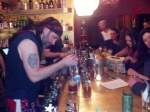 The bartenders were taking tiki night seriously!