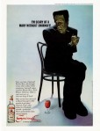 Vintage Smirnoff Halloween Frankenstein Scary Mary Ad