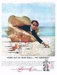 Woody Allen Vintage Smirnoff Ad Clam